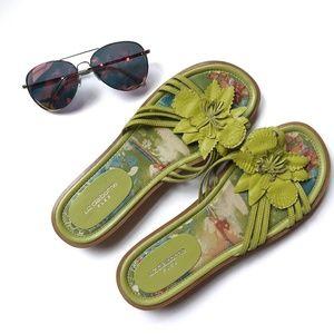 {Liz Claiborne} flower slip on sandals
